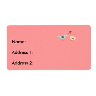 Bridal Partridges Custom Shipping Labels