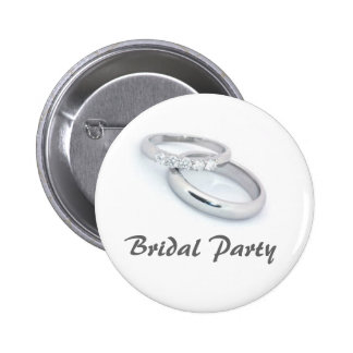 Bridal Party 2 Inch Round Button