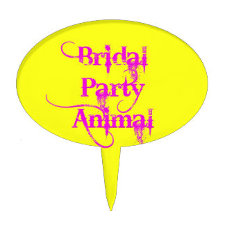 Bridal Party Animal products by TroubleShooter Cake Toppers