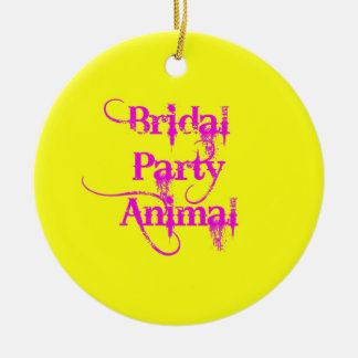 Bridal Party Animal products by TroubleShooter Christmas Tree Ornaments