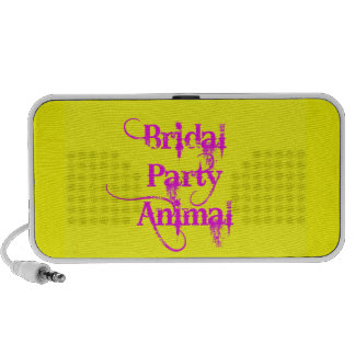 Bridal Party Animal products by TroubleShooter Laptop Speakers