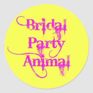 Bridal Party Animal products by TroubleShooter Classic Round Sticker