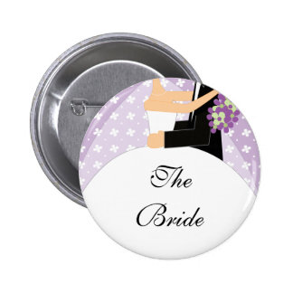 Bridal Party Bride To Be Button / Pin Floral