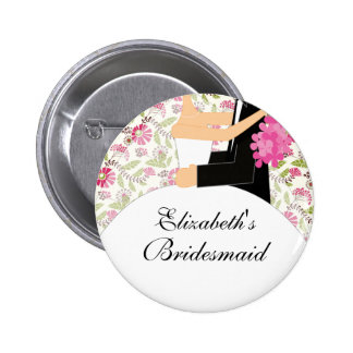 Bridal Party Bridesmaid Button / Pin Flowers