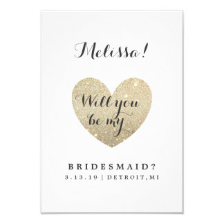 Bridal Party Card - Heart Fab-will you be my