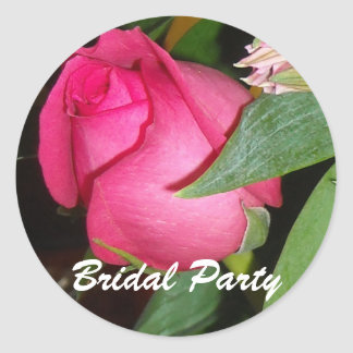 Bridal Party Classic Round Sticker