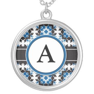 Bridal Party Gift - Monogram Pendant (blue)