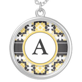 Bridal Party Gift - Monogram Pendant (yellow)
