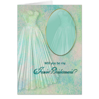 BRIDAL PARTY INVITATIONS -  JUNIOR BRIDESMAID CARD