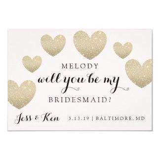 "Bridal Party Invite Card - Fab Hearts 3.5"" X 5"" Invitation Card"