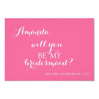 """Bridal Party Invite Card 3.5"""" X 5"""" Invitation Card"""