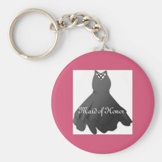 Bridal Party Key Ring Pink Maid of Honor Keychain