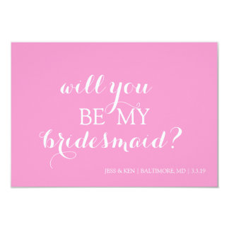 Bridal Party Member Invite Card