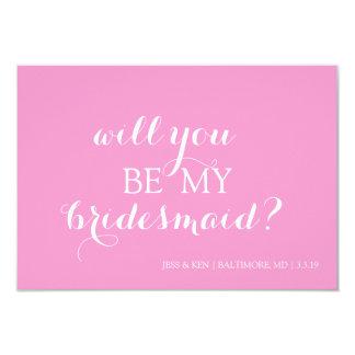 "Bridal Party Member Invite Card 3.5"" X 5"" Invitation Card"
