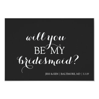 Bridal Party Member Invite- will you be my Card