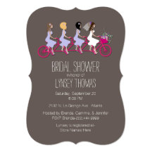 Bicycle bridal shower invitations announcements zazzle filmwisefo Choice Image