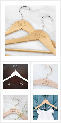 BRIDAL PARTY PERSONALISED HANGERS