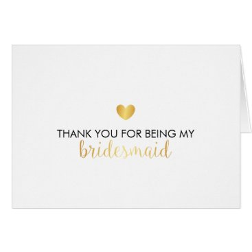 Valentines Themed Bridal Party Thank You Card - Heart Script