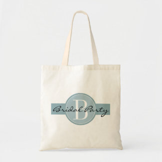 Bridal party tote bags with custom monogram name