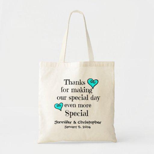 Bridal Party, Welcome/Thanks Gift Bag AQUA