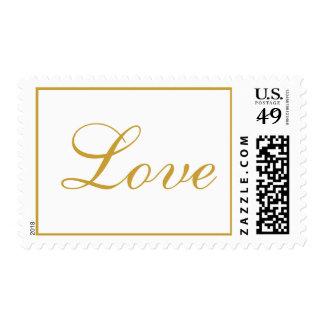 Bridal Perfect Love Celebration Satin Sheen Gold Postage Stamp
