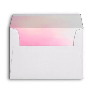 Bridal Pink Ombre Watercolor Lined Envelope