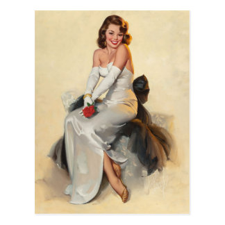 Bridal PinUp Postcard
