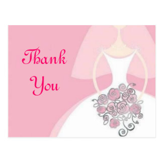 Bridal Postcard Thank You