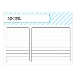 Bridal Recipe Card - Blue
