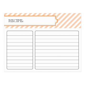 Bridal Recipe Card - Orange Postcard
