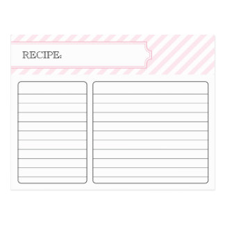 Bridal Recipe Card - Pink Postcard