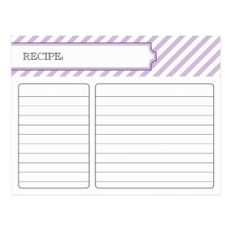 Bridal Recipe Card - Purple Post Cards