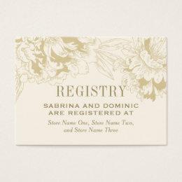 bridal registry cards