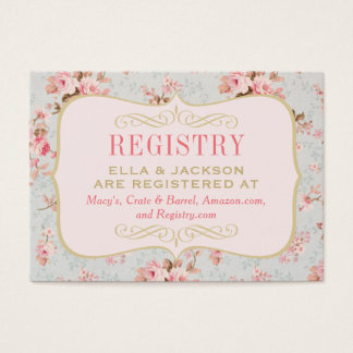 Bridal Registry Card | Vintage Garden Party