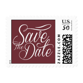 Bridal Save The Date Chic Wine Postage