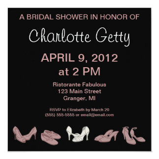 Bridal Shoes Bridal Shower Invitations