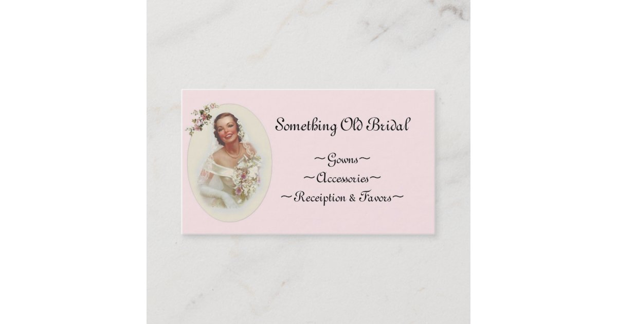 Bridal Shop Business Card   Zazzle.com