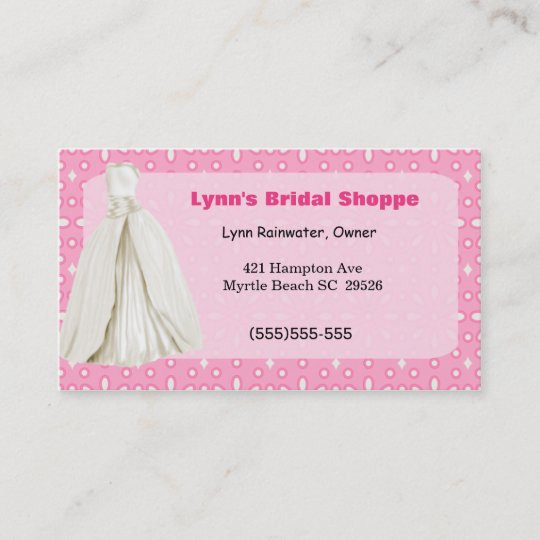 Bridal shop business card zazzle bridal shop business card reheart Gallery