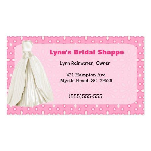 Bridal shop business card business card templates bizcardstudio bridal shop business card reheart Images