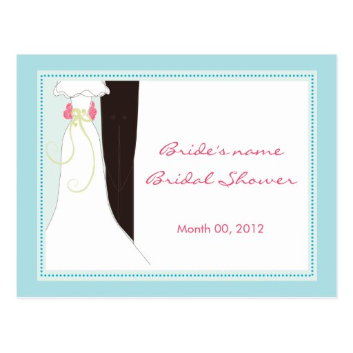Bridal Shower Advice Cards Postcard