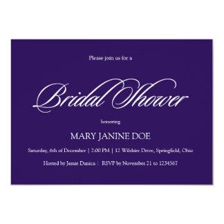 "Bridal Shower Aubergine Simple & Affordabble 4.5"" X 6.25"" Invitation Card"