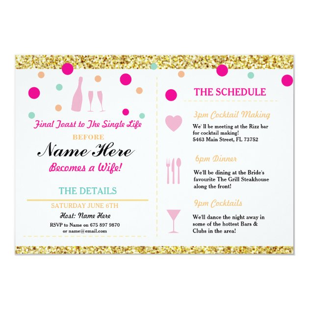 Bachelorette Party Invitations – Bridal Shower and Bachelorette Party Invitations