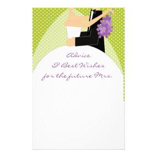Bridal Shower Best Wishes & Advice Stationary Stationery