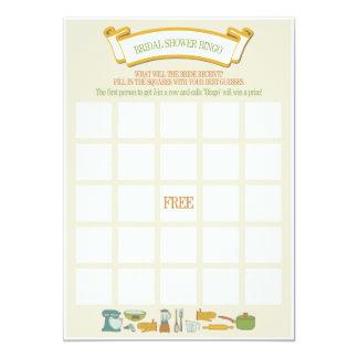 Bridal Shower Bingo Game Card