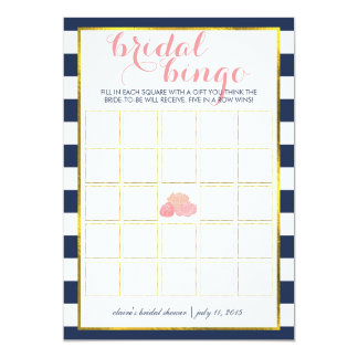 Bridal Shower Bingo Game Card | Midnight Peony