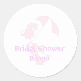 Bridal Shower Bingo Stickers