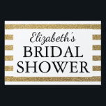 """Bridal Shower Black &amp; Gold Lawn Sign<br><div class=""""desc"""">Bridal Shower Black &amp; Gold</div>"""