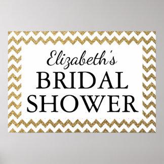 Bridal Shower Black & Gold Poster