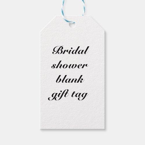 Bridal shower blank gift tag