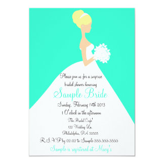 Bridal Shower Blonde Bride Invitation